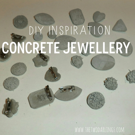 pinterest diy concrete jewellery the two darlings
