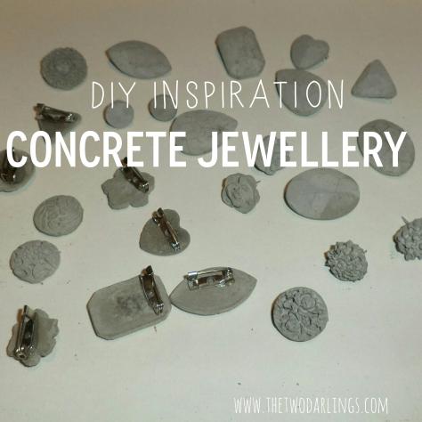 pinterest diy concrete jewellery the two darlings